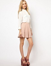 River Island Heart Printed Skater  Skirt