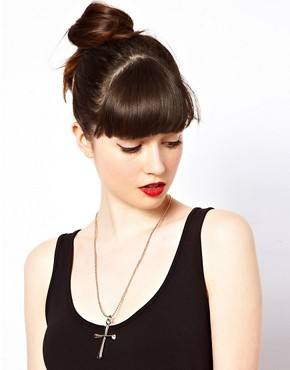 Image 3 ofSusan Caplan Exclusive For ASOS Vintage &#39;90s Cross Pendant Necklace