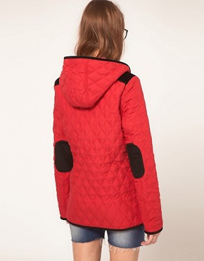 Image 2 ofASOS Hooded Quilted Jacket With Spot Lining