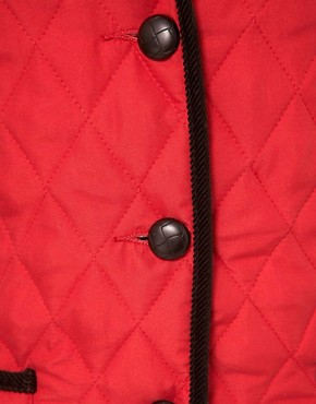 Image 3 ofASOS Hooded Quilted Jacket With Spot Lining