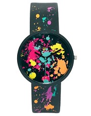 ASOS Paint Splat Watch