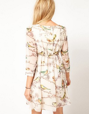 Image 2 ofTed Baker Dress With Bird Print