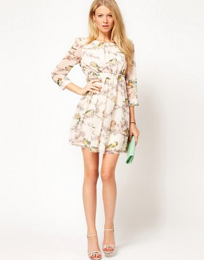 Image 4 ofTed Baker Dress With Bird Print