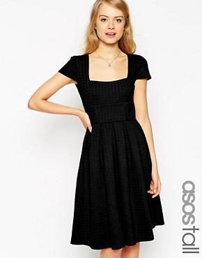 ASOS TALL Debutante Full Midi Dress In Texture