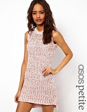 ASOS PETITE Knit Dress In Stitch Detail