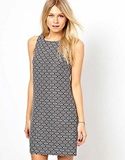 Oasis Jacquard Zip Dress