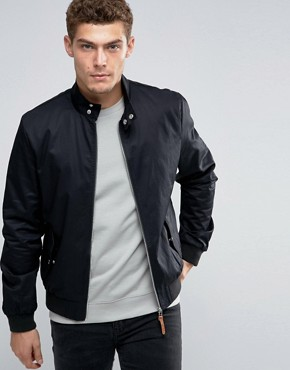 Chaqueta Harrington negra de River Island