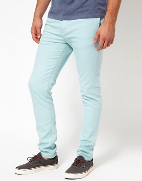 Image 1 of ASOS Skinny Bright Chinos