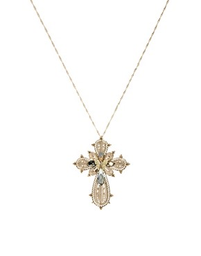 Image 1 ofOasis Butterfly Cross Necklace