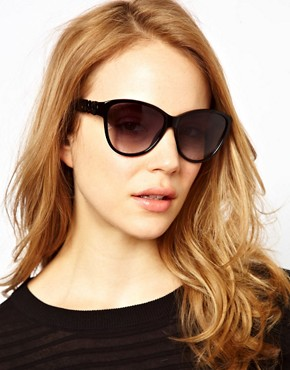 Image 3 ofMarc By Marc Jacobs Black Cat Eye Sunglasses