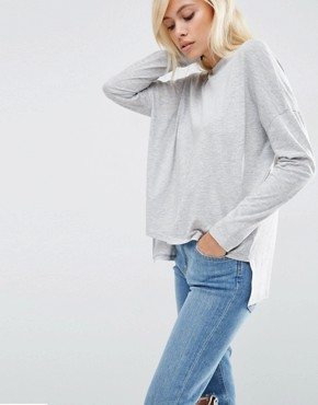 ASOS Oversize Long Sleeved Split Back Top