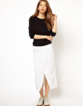 Image 1 ofJ W Anderson Padded Long Wrap Skirt