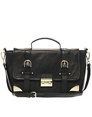 ASOS Leather Corner Detail Satchel Bag