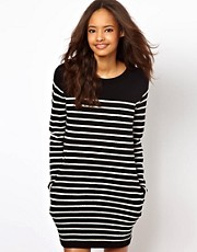 White Chocoolate Stripe Jumper Dress