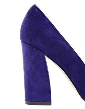 Image 2 ofASOS PLATO Suede High Heels with Metal Toe Cap
