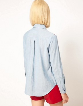 Image 2 ofHouse of Holland Chambray Western Shirt