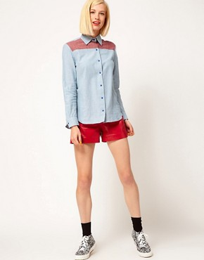 Image 4 ofHouse of Holland Chambray Western Shirt
