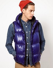 Black Chocoolate Reversible Down Gilet
