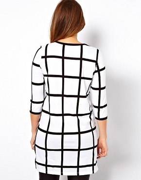 Image 2 ofASOS CURVE Exclusive Check Top With Step Hem
