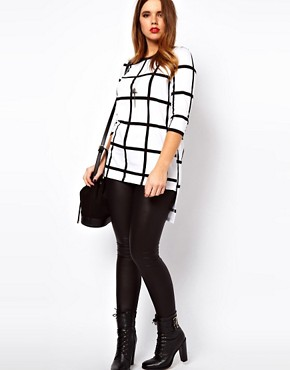 Image 4 ofASOS CURVE Exclusive Check Top With Step Hem