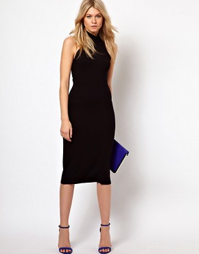 Image 1 ofLove Midi Dress With High Neck