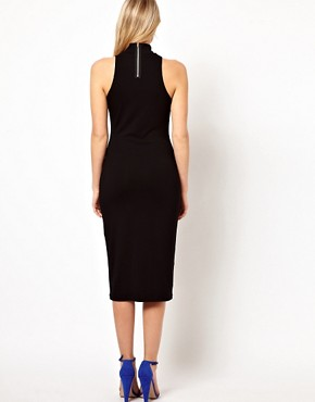 Image 2 ofLove Midi Dress With High Neck