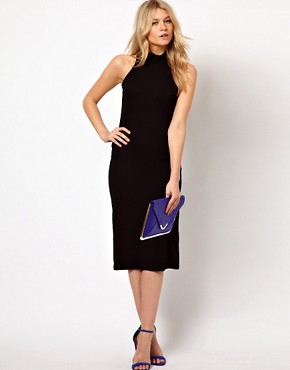 Image 4 ofLove Midi Dress With High Neck