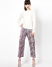 Sister Jane Cropped Trousers in Print