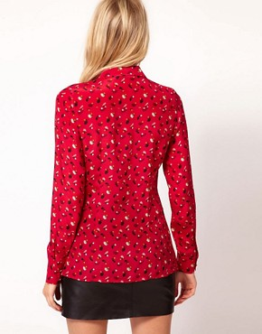 Image 2 ofOasis Acorn Print Silk Shirt