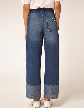 Image 2 ofMiH Jeans Portobello High Rise Jeans With Contrast Cuff Panel