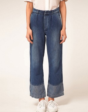 Image 4 ofMiH Jeans Portobello High Rise Jeans With Contrast Cuff Panel