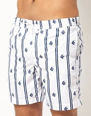 ASOS Swim Shorts With Fish Print