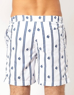Bild 2 von ASOS  Badeshorts mit Fischmuster