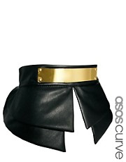 ASOS CURVE Peplum Plate Detail Waist Belt
