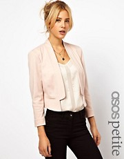 ASOS PETITE Blazer In Ponte With Notch Lapel