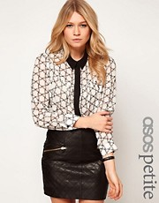 ASOS PETITE Exclusive Blouse In Bow Print