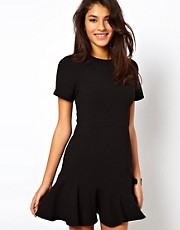 ASOS Mini Dress with Asymmetric Peplum Hem
