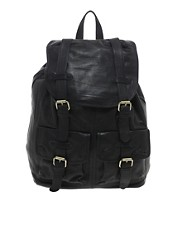 ASOS  Leder-Rucksack im Military-Stil