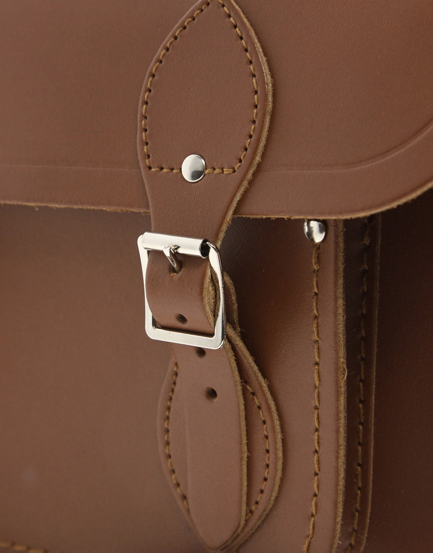 Image 4 of Cambridge Satchel Company Tan Leather 11 Inch Satchel