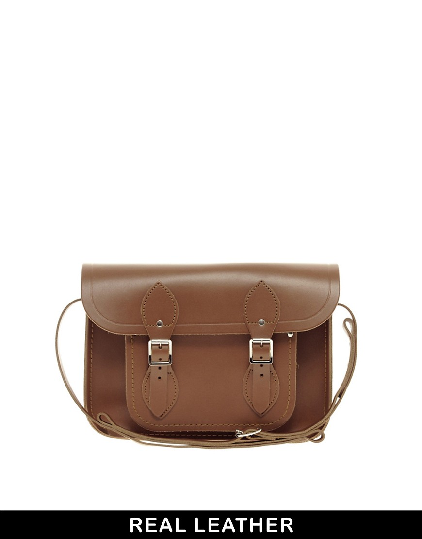 Image 1 of Cambridge Satchel Company Tan Leather 11 Inch Satchel