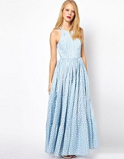 ASOS Maxi Dress In Spot Print