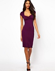 ASOS Midi Bodycon Dress with Ruched Bust