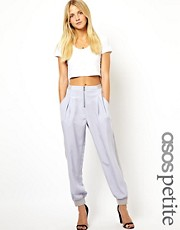 ASOS PETITE Exclusive Soft Trousers with Zip Detail