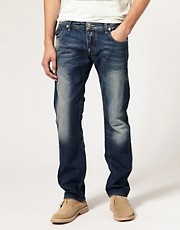 G Star Morris Low Straight Rugby Wash Jeans