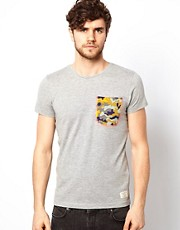 Jack & Jones T-Shirt With Camo Pocket