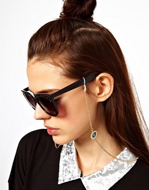 Image 2 of ASOS Evil Eye Sunglasses Chain