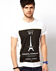 Criminal Damage T-Shirt With Number One Print
