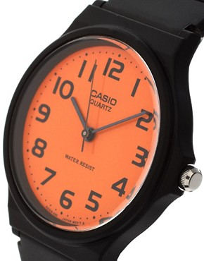 Image 3 ofCasio MQ-24CC-4B2EF Orange Analogue Watch