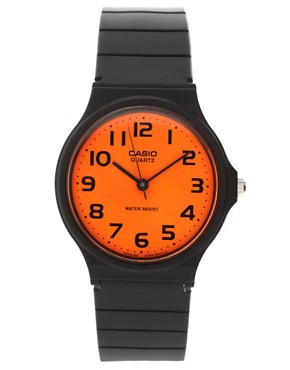 Image 1 ofCasio MQ-24CC-4B2EF Orange Analogue Watch