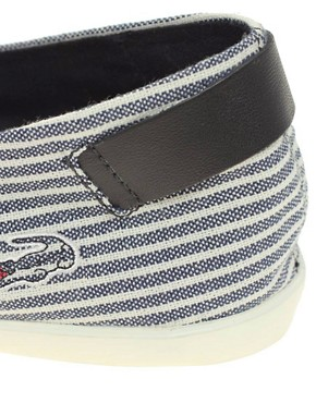 Image 2 ofLacoste Otay 3 Exclusive To ASOS Slip On Plimsolls